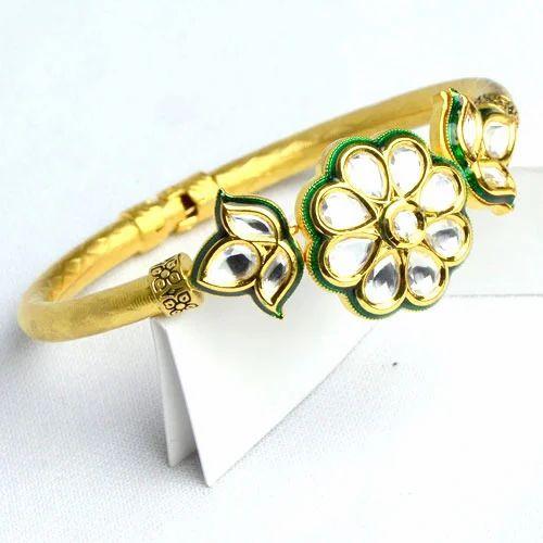 Kundan Bracelet, कुंदन ब्रेसलेट - Sneha Creations, Delhi | ID: 14053545697