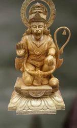 Wood Sculpture Of Hanuman (bhaktavatsala)