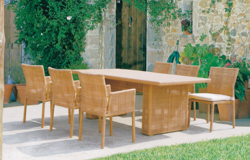 Net Style Outdoor Wicker Dining Table Set