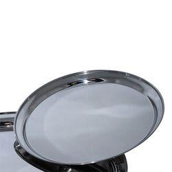 Round Silver Bar Tray