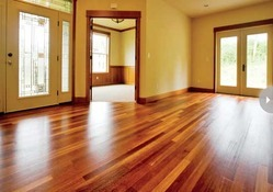 Asian Flooring Glossy Hardwood Flooring, Thickness: 16 mm