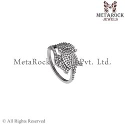 Designer White Diamond Ring