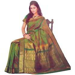 Silk Border Jacquard Saree