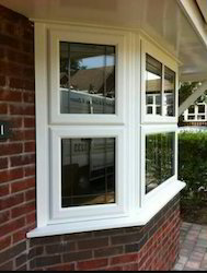 Fixed Window Residential UPVC Windows, Glass Thickness: 5 Mm