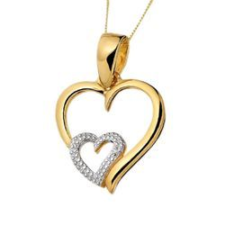 Real Diamond Heart Pendant