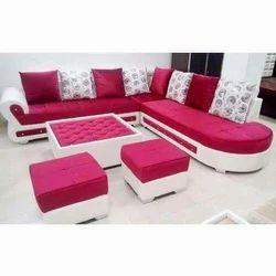 Harsh Jeen Wooden & foam L Sofa, Living Room