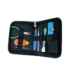 Watch Battery Changing Kit  (with Leather Case - 8 Pcs.)