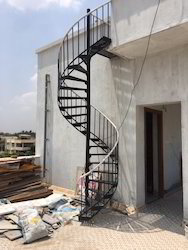 Outdoor MS Spiral Staircase