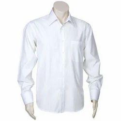 Cotton/Linen White Formal Shirt