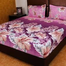double bedsheet with pillow cover bombay dyeing bedsheet with two
