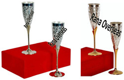 Silver Plated Goblets And Wine Glasses