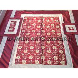 BED SHEET SILK EMBROIDERY WORK
