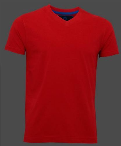 Mens V Neck Plain Red T Shirt at Rs 699  piece  56e32cea175b