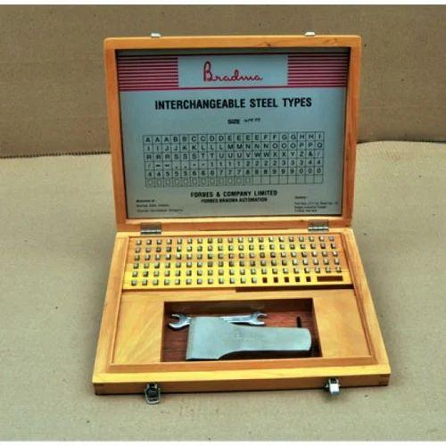 Metal Marking Systems Bradma Interchangeable Steel Types
