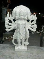 Panchmukhi Hanuman Marble Moorti