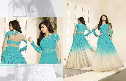 b007751556e Embroidery Work Semi-Stitched Anarkali Suits