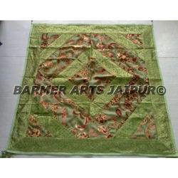 Designer Table Cover Brasso Velvet Border Marfi