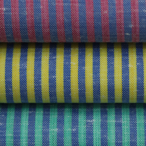 Red And Yellow And Green Economical Shirting Fabric, Use: Garments