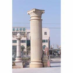 White Marble Stone Pillars