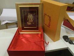 Gold Foil Frame Radha Krishna