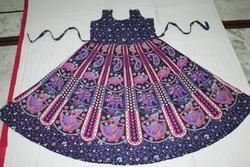 Purple Pink Rajasthani Print Frock