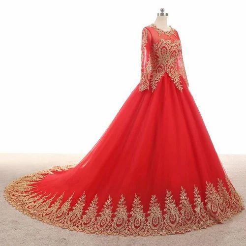 e04b73e4f7b A2fashionhouse Red Golden Bridal Wedding Gown
