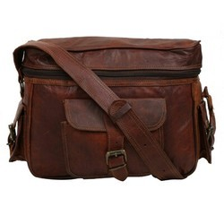 Genuine Leather Camera Messenger Bag CAM106