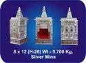 Reance Silver 8 X 12 Inch Meenakari Aluminum Temple
