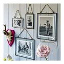 Hanging Glass Photo Frame