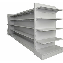 White Supermarket Display Rack