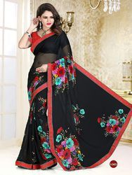 Cotton Border Daily Wear Saree, With Blouse Piece