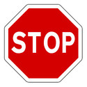 Stop Signs, Shape: Round, For Road Safety