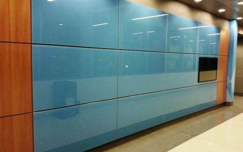 Back Painted Glass Wall : Back painted glass at rs square feet s designer