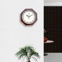 Wooden Polished Clock