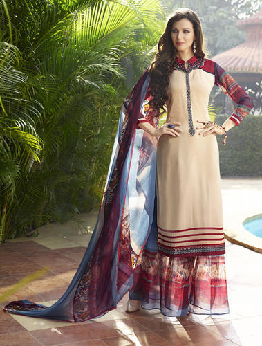 6a27b624eda Georgette Embroidered Pakistani Palazzo Dress Material
