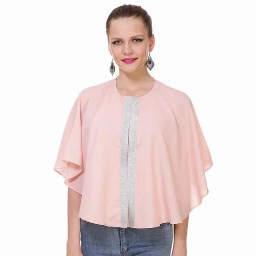 5ed9c9b07a081b Pink Plain Ladies Rayon Tops