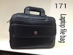 Plain Black File Laptop Bag