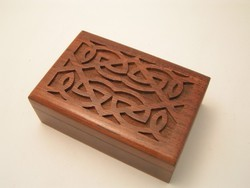 Brown Junglewood Wooden Box, Size: 7x5x2