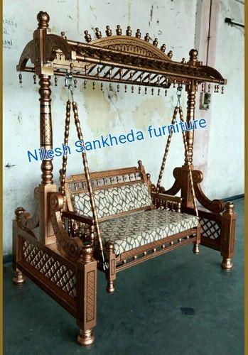 Rajwadi Wooden Roof Jhula Lakdi Ke Jhoole लकड क झ ल