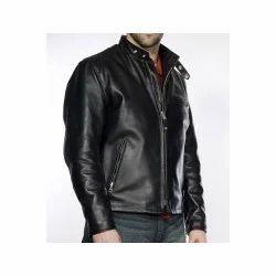 Men Buffalo Leather Motorcycle Jacket