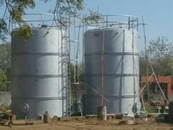 Mild Steel Vertical Storage Tank