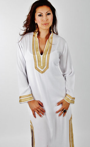 0116ab16582 White Moroccan Caftan at Rs 4000 /piece | Caftan Dress | ID: 10659964912