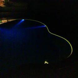 3 Watt IP 68 LED Spot and Fibre Optic Sideglow Cable