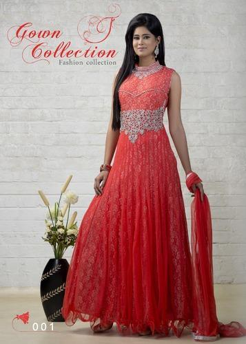 0d262df4e09a Ladies Gowns - Designer Ladies Gown with Dupatta Manufacturer from Surat