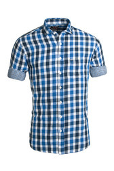 Men Dual Fabric Casual Shirt