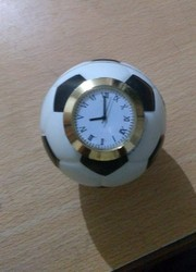 Black & White Brass And Foam Football Table Watch