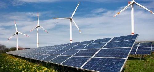 Solar Wind Hybrid Power Plant सोलर विंड हाइब्रिड पावर