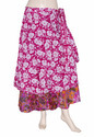 Girls Multicolor Wrap Skirt