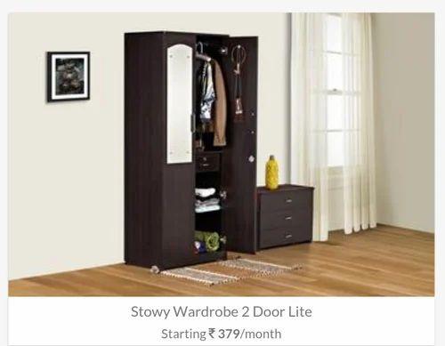 Double Door Wardrobe With Mirror On Rent In Pune & Double Door Wardrobe With Mirror On Rent In Pune in Viman Nagar ...