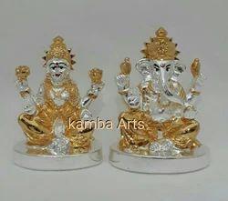 Gold Plated Laxmi Ganesh Idol